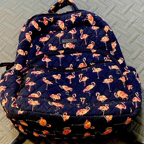 Vera Bradley Flamingo Fiesta Bookbag Set
